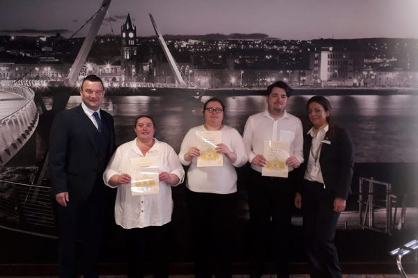 Presentation of Certs for Work placement