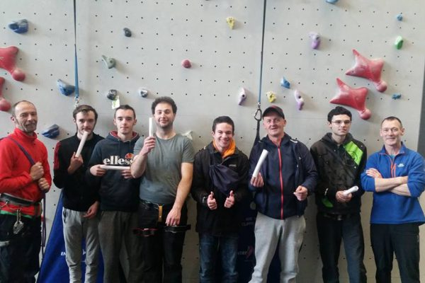 TFS and Engage Wall Climbing course